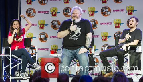 Lisa Corrao, Kristian Nairn and Finn Jones 1