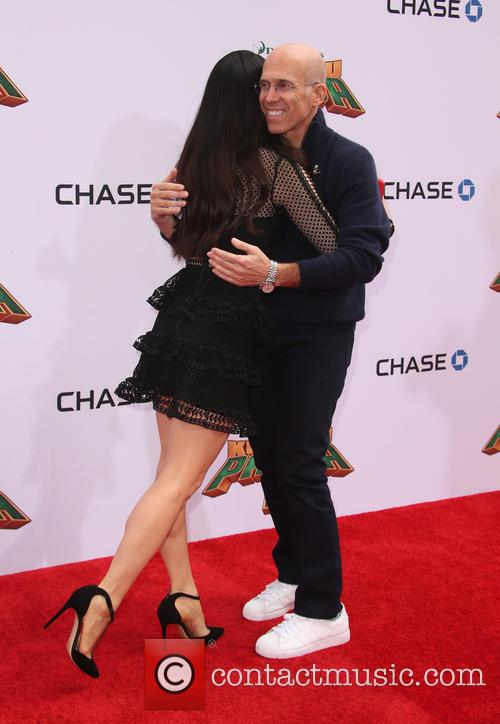 Lucy Liu and Jeffrey Katzenberg