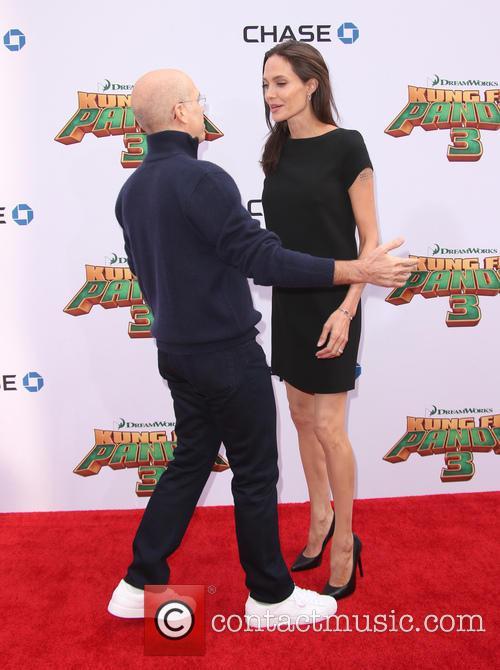 Angelina Jolie-pitt and Jeffrey Katzenberg 1