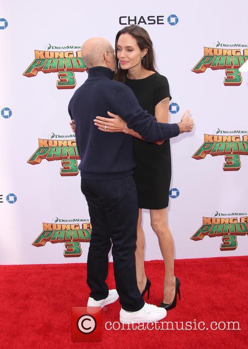 Angelina Jolie-pitt and Jeffrey Katzenberg 2
