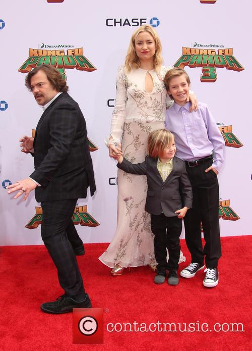 Thomas David Black, Jack Black, Kate Hudson, Ryder Robinson and Bingham Hawn Bellamy 1