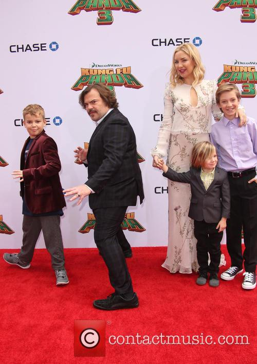 Thomas David Black, Jack Black, Kate Hudson, Ryder Robinson and Bingham Hawn Bellamy 2