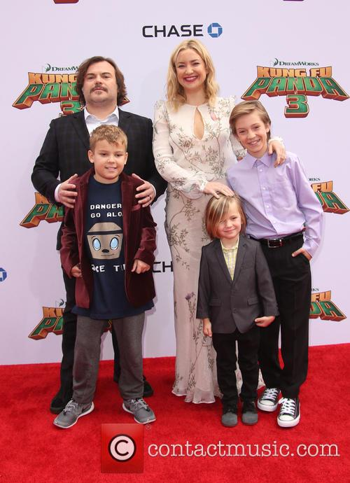 Thomas David Black, Jack Black, Kate Hudson, Ryder Robinson and Bingham Hawn Bellamy 3