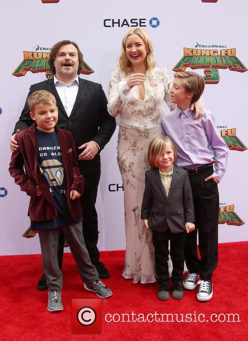 Thomas David Black, Jack Black, Kate Hudson, Ryder Robinson and Bingham Hawn Bellamy 4
