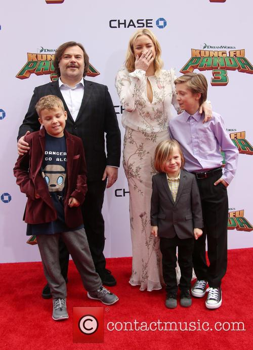 Thomas David Black, Jack Black, Kate Hudson, Ryder Robinson and Bingham Hawn Bellamy 5