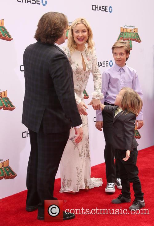 Jack Black, Kate Hudson, Ryder Robinson and Bingham Hawn Bellamy 8
