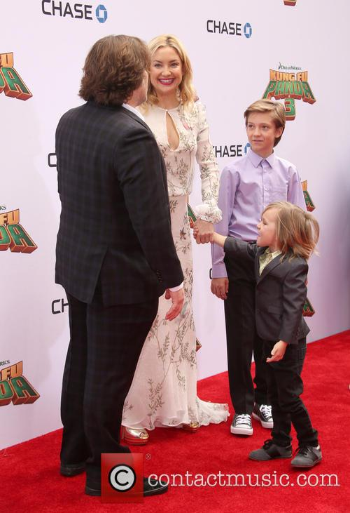 Jack Black, Kate Hudson, Ryder Robinson and Bingham Hawn Bellamy 9