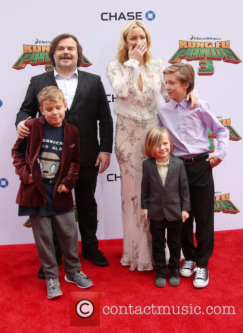 Thomas David Black, Jack Black, Kate Hudson, Ryder Robinson and Bingham Hawn Bellamy 6
