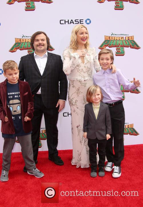 Thomas David Black, Jack Black, Kate Hudson, Ryder Robinson and Bingham Hawn Bellamy 7
