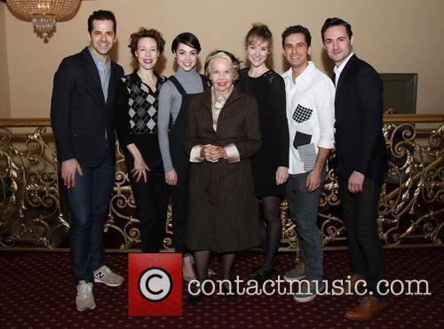 Robert Fairchild, Veanne Cox, Leanne Cope, Leslie Caron, Jill Paice, Brandon Uranowitz and Max Von Essen 1