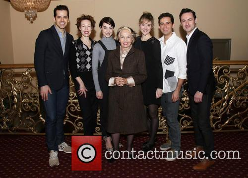 Robert Fairchild, Veanne Cox, Leanne Cope, Leslie Caron, Jill Paice, Brandon Uranowitz and Max Von Essen 2