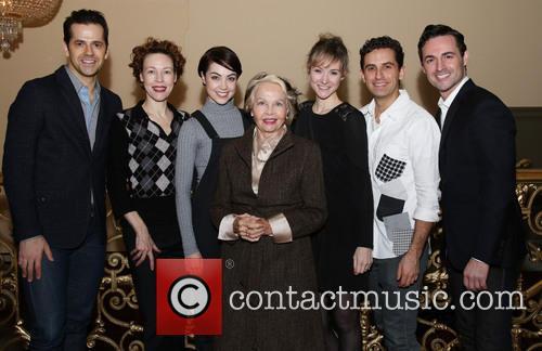 Robert Fairchild, Veanne Cox, Leanne Cope, Leslie Caron, Jill Paice, Brandon Uranowitz and Max Von Essen 3