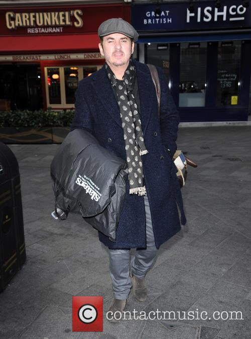 Shane Richie arrives at Global House