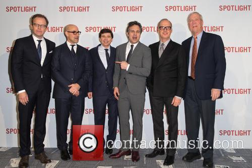 Tom Mccarthy, Mark Ruffalo, Stanley Tucci, Walter 'robby' Robinson, Mike Rezendes and Michael Keaton 6
