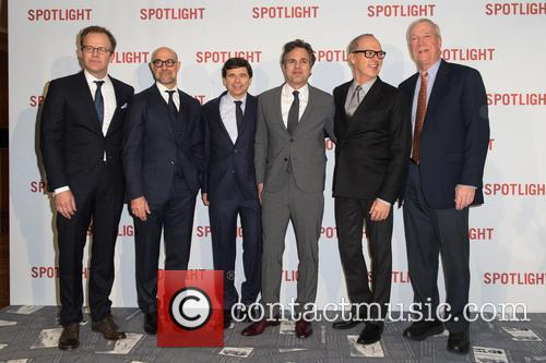 Tom Mccarthy, Mark Ruffalo, Stanley Tucci, Walter 'robby' Robinson, Mike Rezendes and Michael Keaton 8