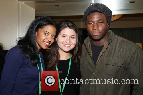 Renee Elise Goldsberry, Phillipa Soo and Okieriete Onaodowan 2