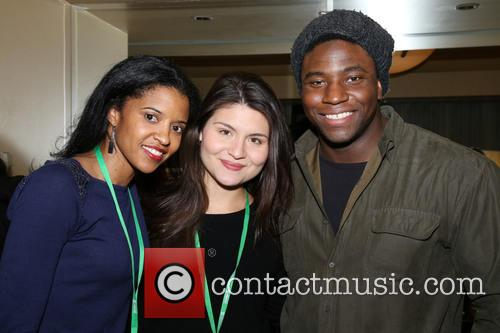 Renee Elise Goldsberry, Phillipa Soo and Okieriete Onaodowan 3