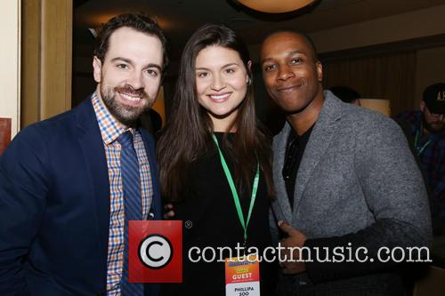 Rob Mcclure, Phillipa Soo and Leslie Odom Jr. 3