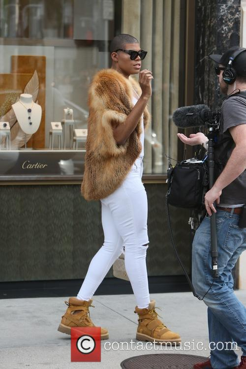 EJ Johnson and Dorothy Wang out filming 'Rich...