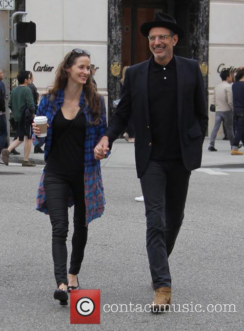 Jeff Goldblum out in Beverly Hills with his...