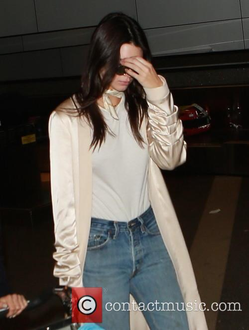 Kendall Jenner arrives at Los Angeles International (LAX)...