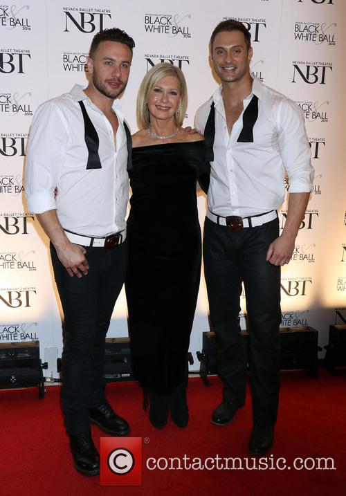 Olivia Newton-john and Chippendales 11