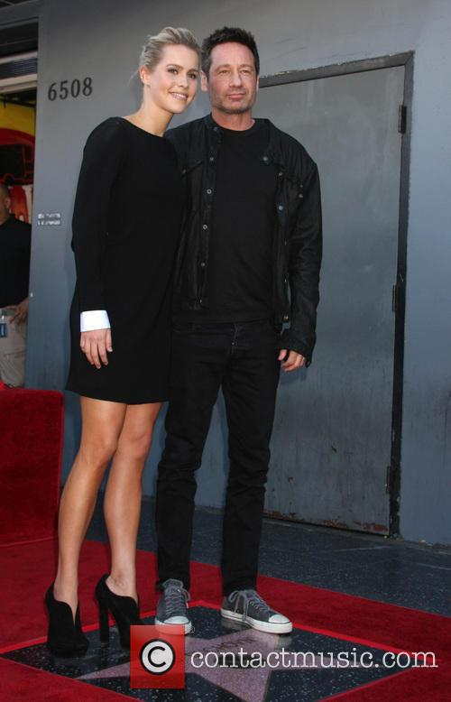 Claire Holt and David Duchovny 1