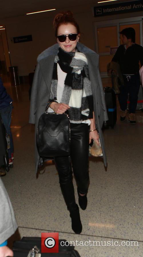Francesca Eastwood arrives on a flight to Los...