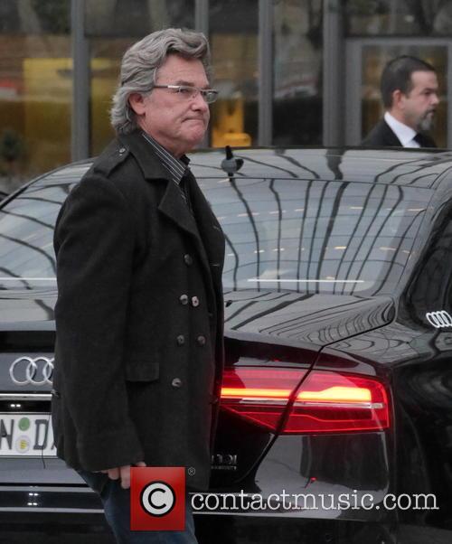 The Hateful 8 cast arriving at Axel Springer...