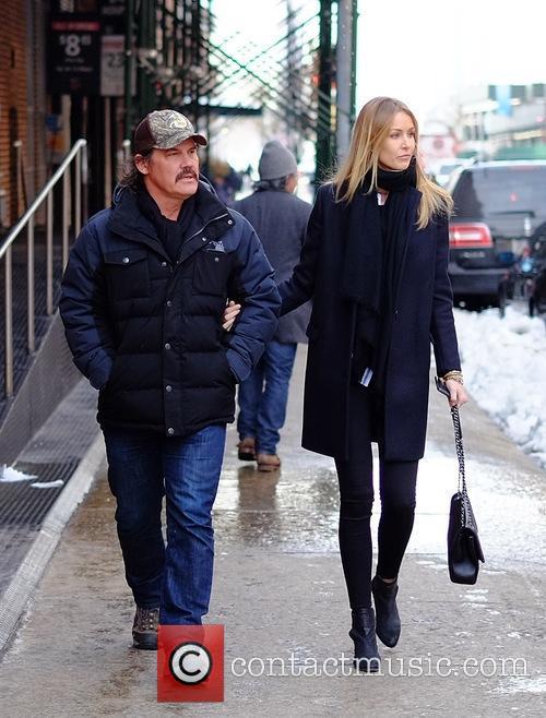 Josh Brolin and Kathryn Boyd out in Tribeca