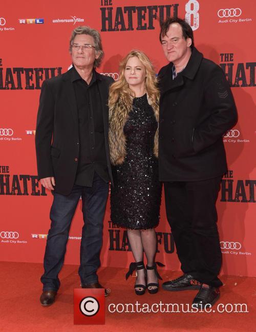 Kurt Russell, Jennifer Jason Leigh and Quentin Tarantino 9