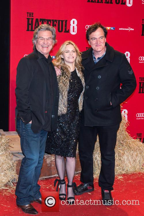 Kurt Russel, Jennifer Jason Leigh and Quentin Tarantino 2