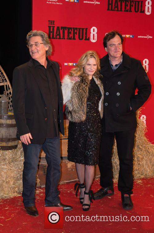 Kurt Russel, Jennifer Jason Leigh and Quentin Tarantino 4