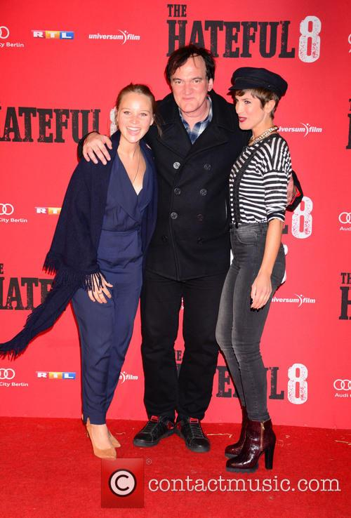 Sonja Gerhardt, Quentin Tarantino and Isabell Horn 7