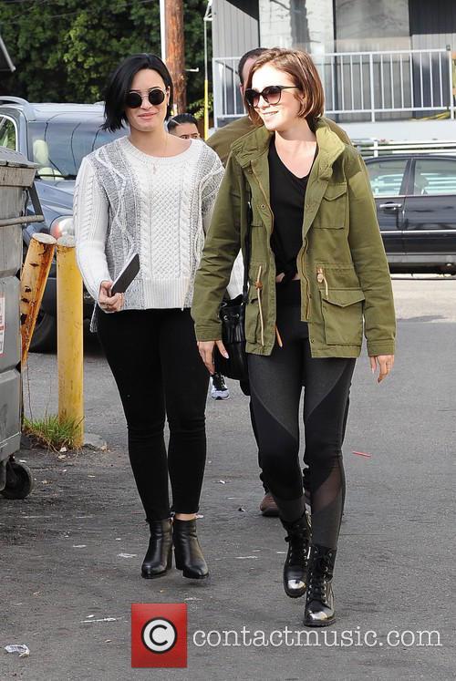 Lily Collins and Demi Lovato 2