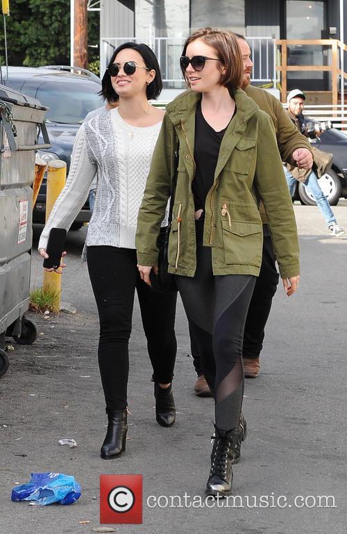 Lily Collins and Demi Lovato 4