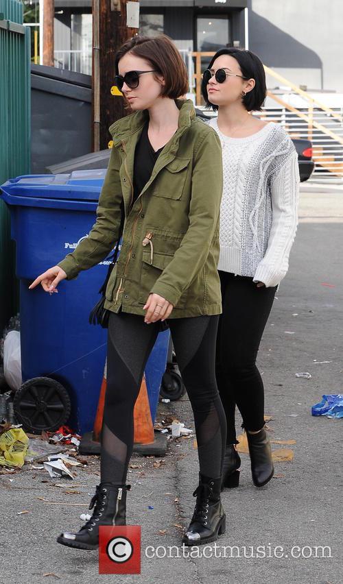 Lily Collins and Demi Lovato 5