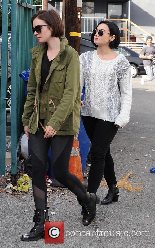 Lily Collins and Demi Lovato 6