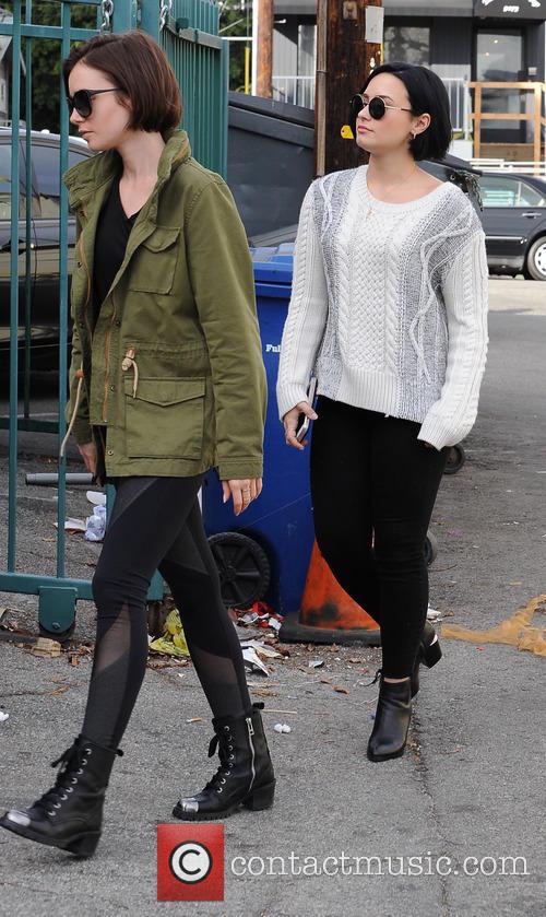 Lily Collins and Demi Lovato 7