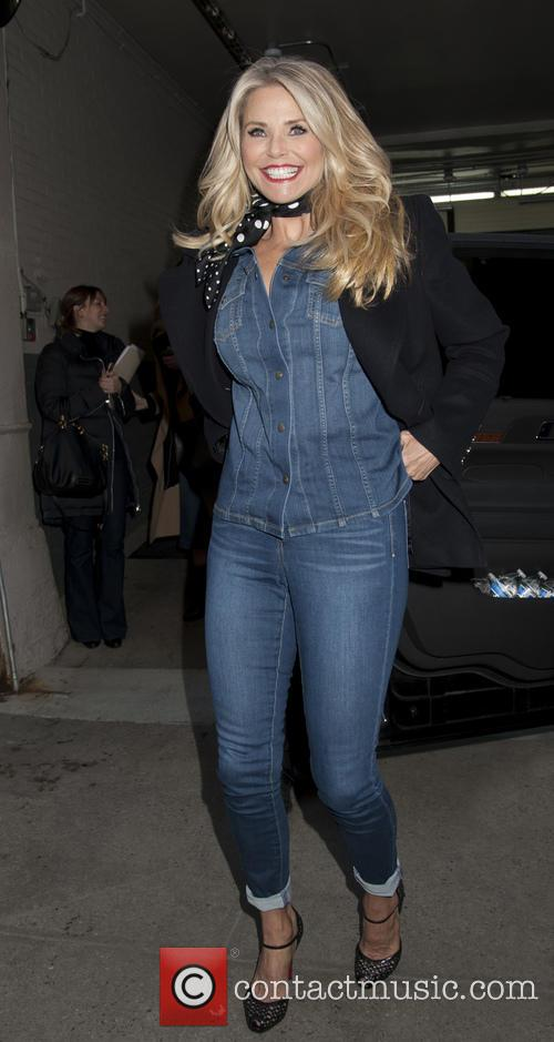 Christie Brinkley at HuffPost Live in NYC