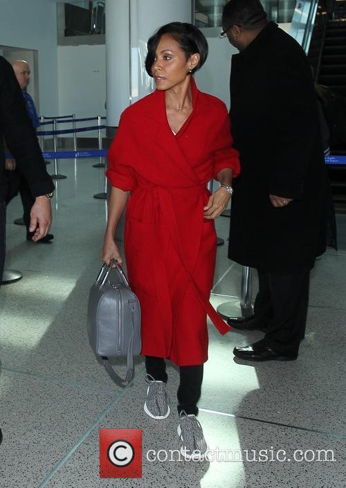 Jada Pinkett Smith arrives at LAX in a...