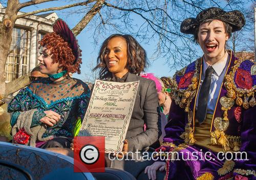 Kerry Washington and Hasty Pudding Theatricals Cast 7