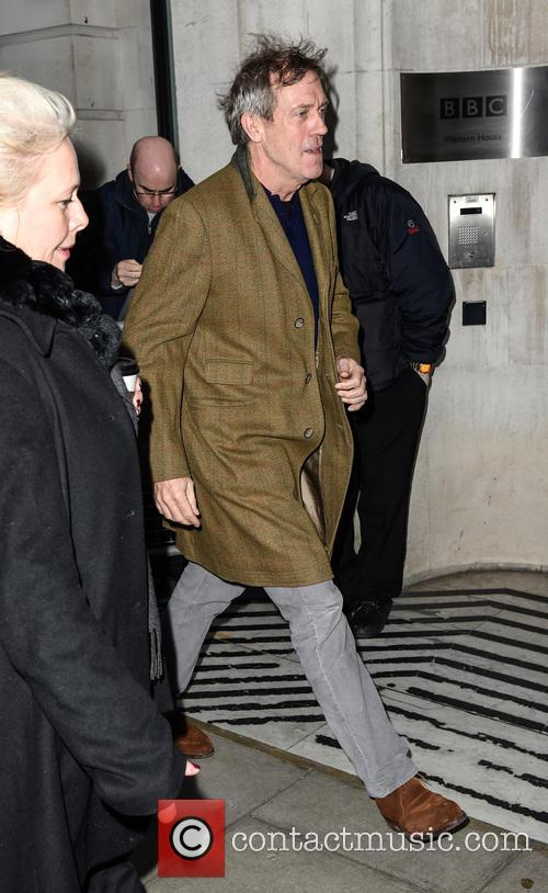 Hugh Laurie arrives at BBC Radio 2