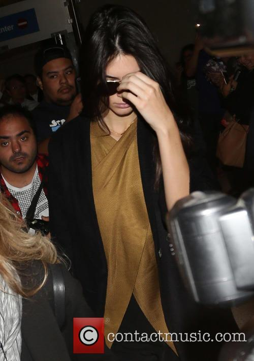 Kendall Jenner arrives at Los Angeles International Airport...