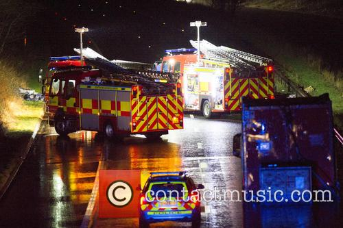Scottish police along with the Fire and Rescue...