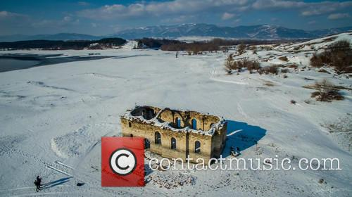 Submerged Church St. Ivan Rilski Under Snow Cover 2
