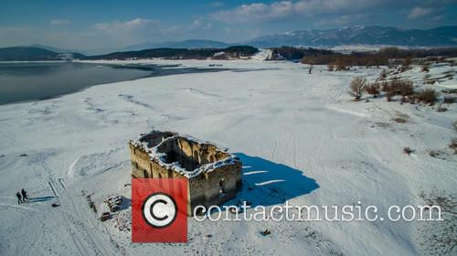 Submerged Church St. Ivan Rilski Under Snow Cover 3