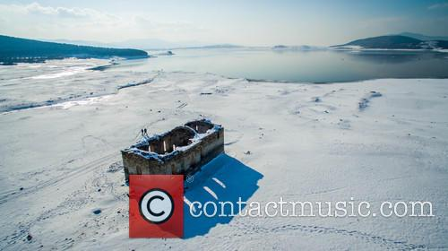 Submerged Church St. Ivan Rilski Under Snow Cover 5