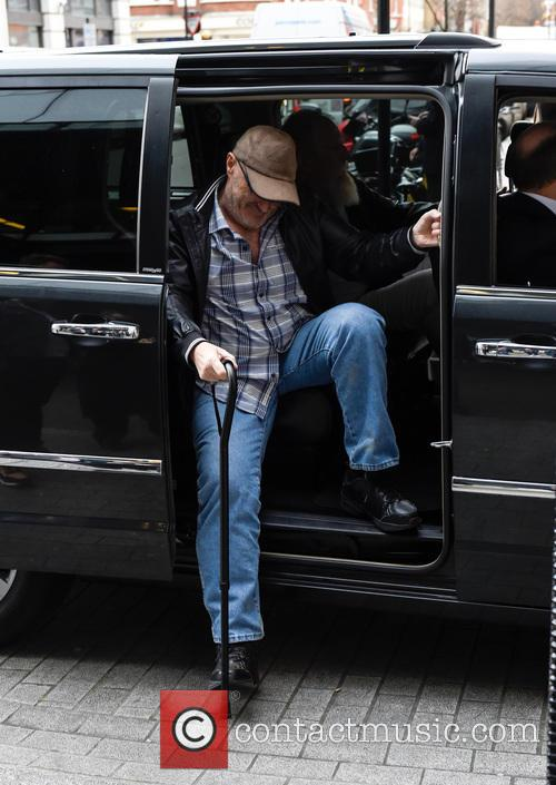 Phil Collins arrives at the BBC Radio 1...