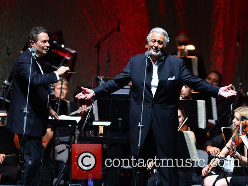 Placido Domingo performing live in concert